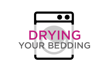 drying your bedding