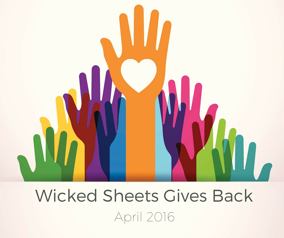 wicked sheets gives back april 2016 at wicked sheets