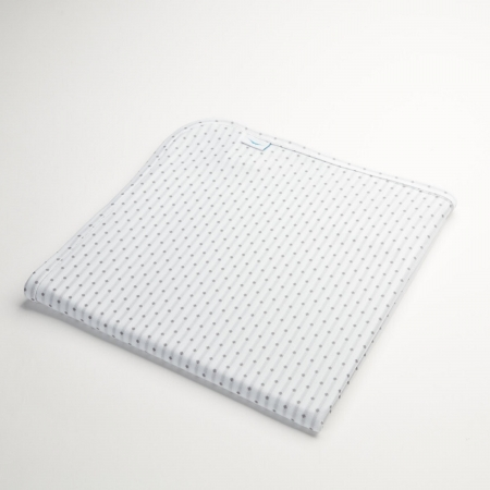 wicked sheets breathable cool gray and white polka dot reversible swaddle blanket