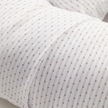 closeup of gray dot pregnancy pillowcase for snoogle pillow