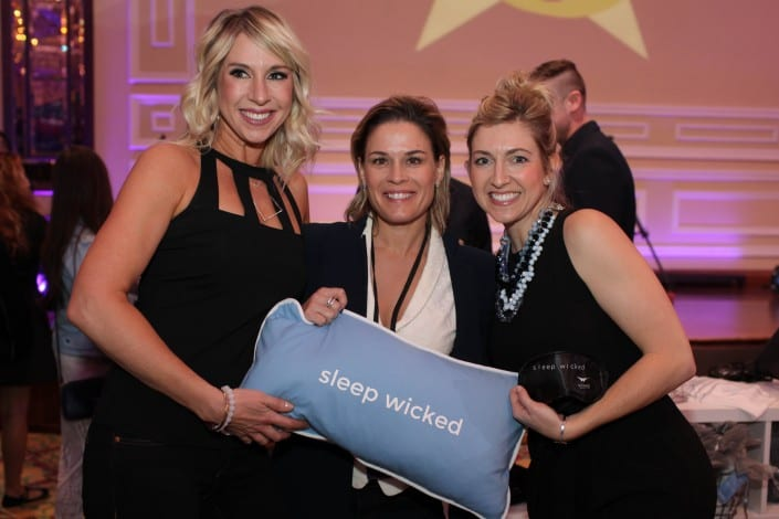 Chef Cat Cora sleeps wicked at wicked sheets