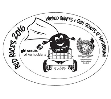 bed races 2016 wicked sheets + girl scouts of kentuckiana at wicked sheets