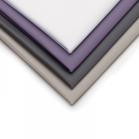 triangle fold of wicked sheets color varieties in white purple gray and ash
