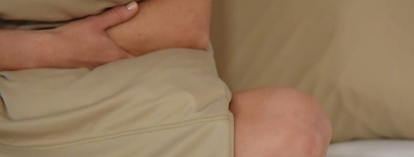 corner of beige pillow case
