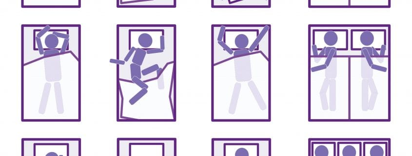 twelve sleeping positions at wicked sheets