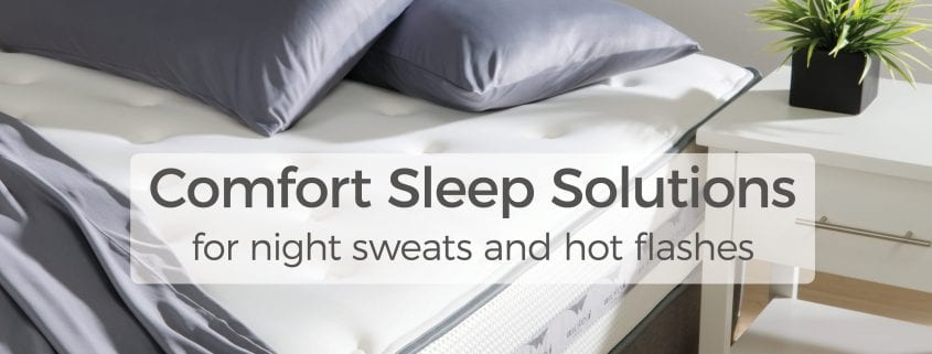 comfort sleep solutions for night sweats and hot flashes at wicked sheets