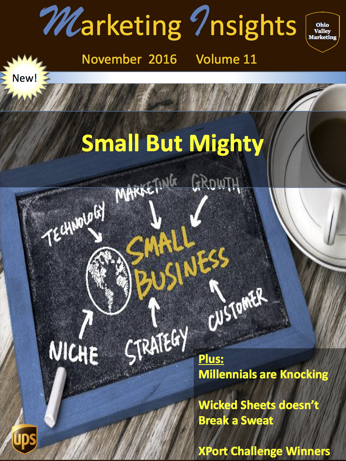 UPS marketing insights volume 11 small but mighty wicked sheets doesn't break a sweat