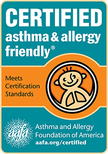 certified asthma and allergy friendly at wicked sheets