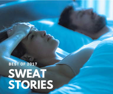 Sweat Stories of 2017 - Sleepless Night Couple night sweat causes at wicked sheets