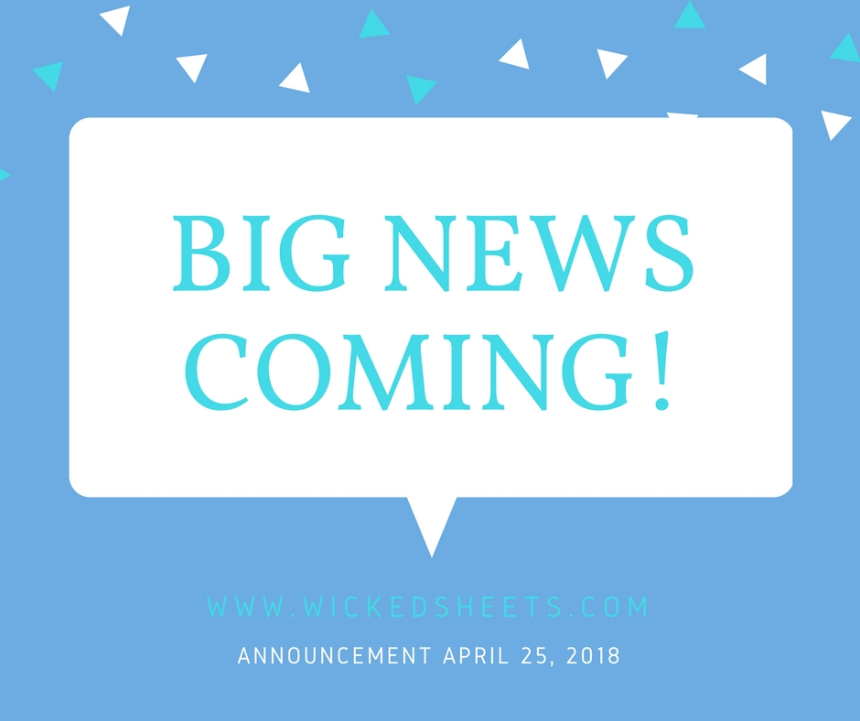 Big News Coming Announcement April 25, 2018