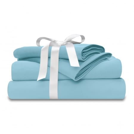 breezy blue moisture wicking and cooling sheets by wicked sheets
