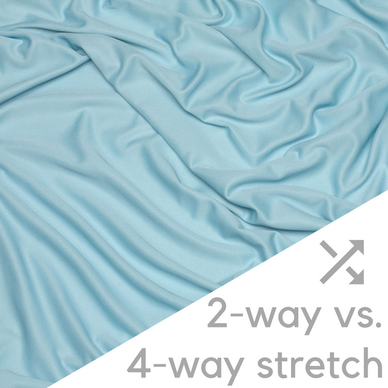 2-way vs. 4-way stretch at wicked sheets