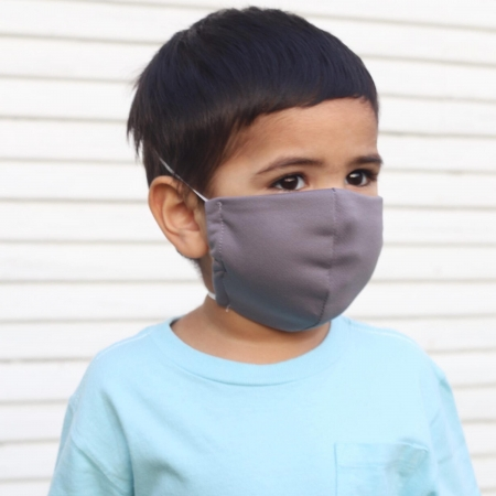 child size face mask in gray