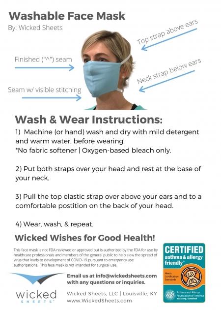 washable face mask instructions