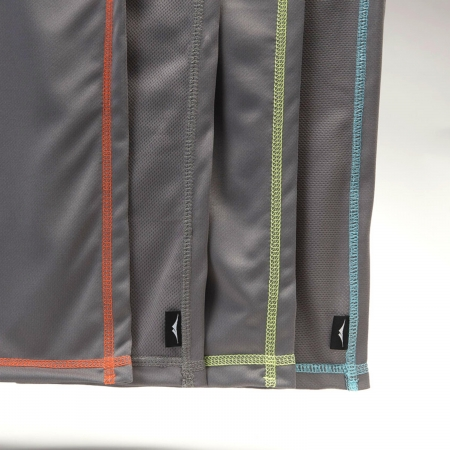 wicked sheets moisture wicking sweat shammy in gray with different colored thread options