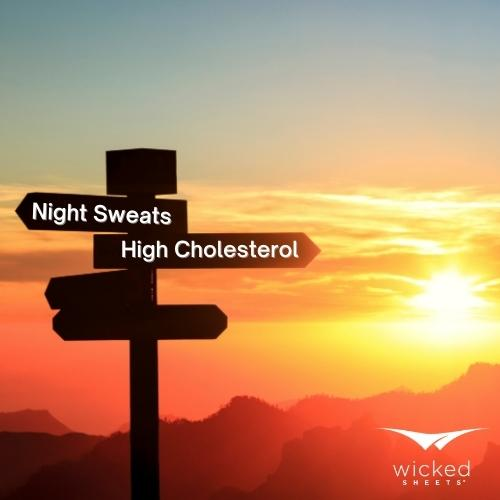 high cholesterol and night sweats over the sunset