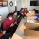 bluegrass center for autism students cutting elastic