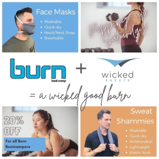 Wicked Pop-up @burnbootcampprospectky this Saturday! 8am & 9am classes! Come and get your sweat on and grab some wicked gear. 😅 . . . #burn #burnbootcamp #feeltheburn #sweat #quickdry #coolsheets #facemasks #workoutmasks #sweatshammy #wickedsheets #popupshop